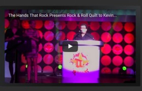 The Hands That Rock Presents Rock & Roll Quilt to Kevin Lyman